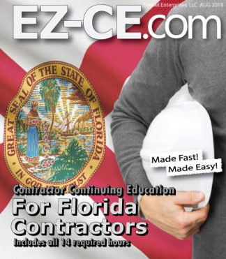 EZ-CE.com 14 hr Florida contractor continuing education course cover page